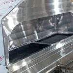 کباب پز ۱۹۰ گازی زغالی با هود با ورق ۳۰۴ نگیر