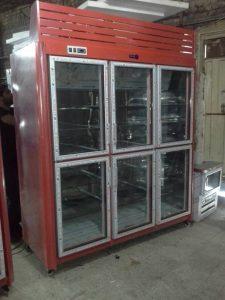 یخچال ایستاده سوپری ۶ درب قرمز رنگ